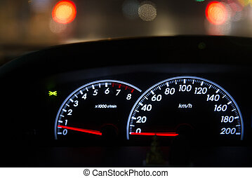 detail of car dashboard auto
