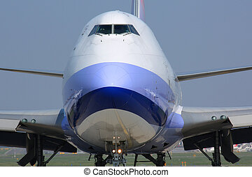 Detail of cargo plane nose