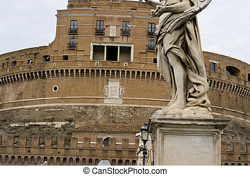 Detail of Castle St Angel in Rome