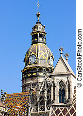 detail of Cathedral of Saint Elizabeth, Kosice, Slovakia