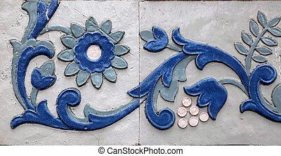 detail of ceramic tile pattern