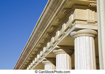 Detail of classical columns
