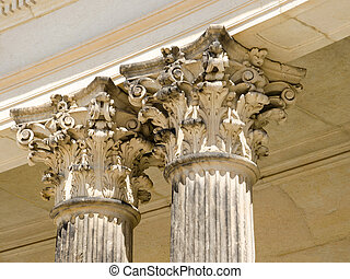 Detail of colonnade from the 18th century in Potsdam, Brandenburg, Germany