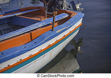 Detail of colorful boats 2