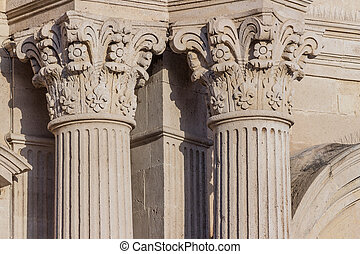 Detail of columns and capitals
