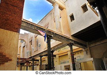 building interior in Old havana, cuba