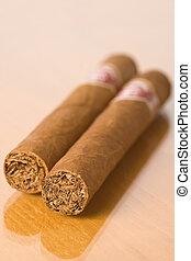 detail of cuban cigars