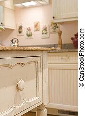 detail of custom cabinet