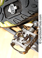 Detail Of Cycle Track With SPD Pedal