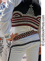 Detail of Czech folk costume for man 1