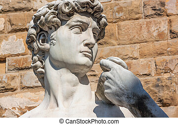 Detail of David - Florence, italy