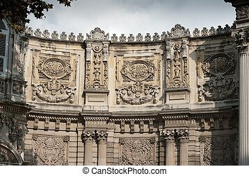 Detail of Dolmabahce palace entrance in Istanbul, turkey