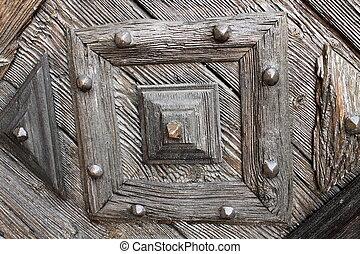 detail of door
