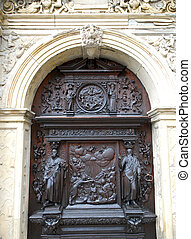 Detail of door Roskilde Cathedral