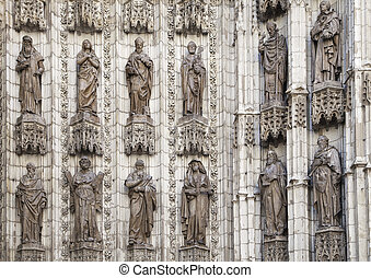 Detail of doorway of Seville cathedral
