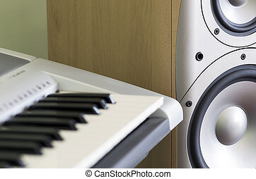 DETAIL OF ELECTRONIC KEYBOARD AND SPEAKER