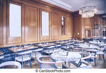 English interior of restaurant