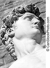 David by Michelangelo - detail of famous italian sculpture...