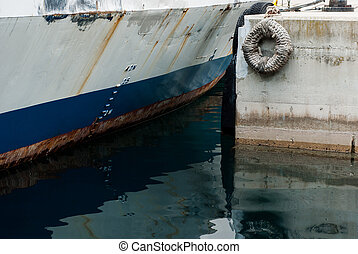 Detail of ferry boat - Photo of detail of ferry boat