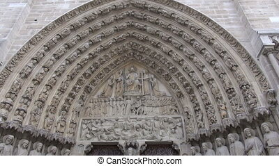detail of gate to Notre Dame