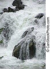 Detail of Gibbon Falls