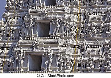 Detail of Gopuram of the Hindu Kanakadurga, or The Golden...