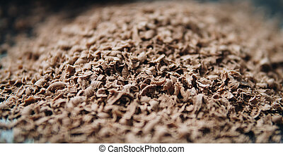 detail of grated chocolate