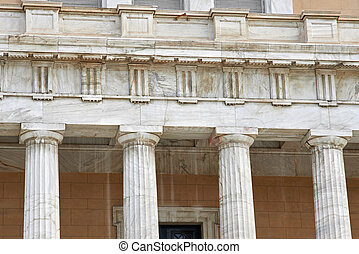 Detail of Greek parliament in Athens