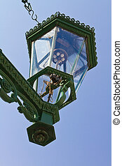 Detail of historic gas lamp - Detail of gas lamp-post in ...
