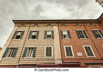 Detail of historical building in Ferrara 2