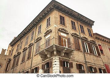 Detail of historical building in Ferrara 3