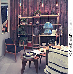 home patio with decorative objects