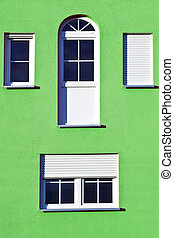 detail of house facade with window