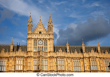 Houses of Parliament - Detail of Houses of Parliament,...