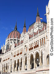 Detail of Hungarian Parliament, Budapest
