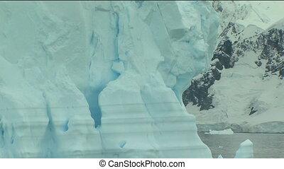 detail of iceberg in antarctica - huge iceberg in antarctica