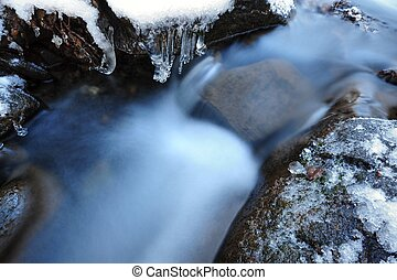 Detail of icy stream