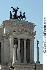 white monument called Vittoriano