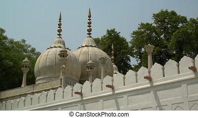 Detail of Islamic domes architecture. - At Moti Masjid...