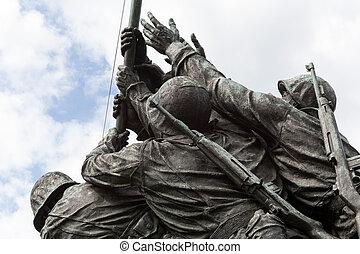 Detail of Iwo Jima Memorial in Washington DC
