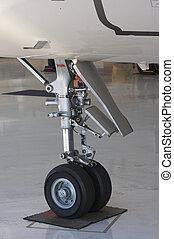 Detail of Jet Landing Gear - Detail of Private Jet Landing...