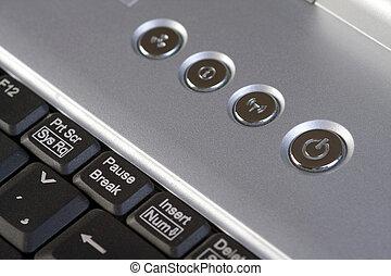 detail of laptop