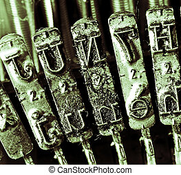 detail of levers of a typewriter