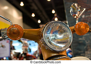 Detail of light motorbike
