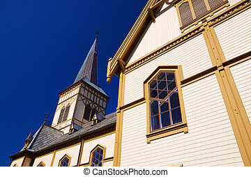 Detail of Lofoten cathedral