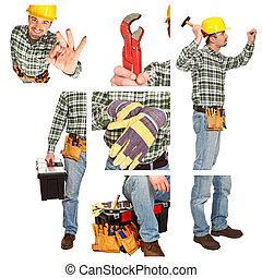 detail of manual worker