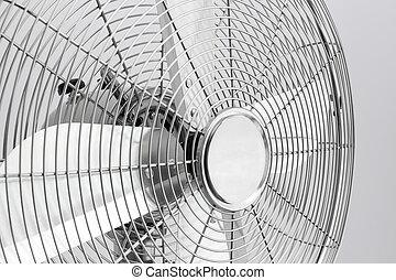 Detail of metal electric fan