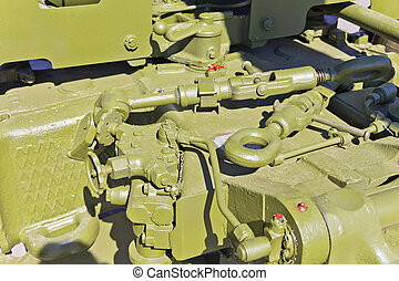 Detail of military transport - Detail of military machine at...