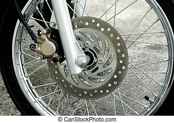detail of motorcycle wheel