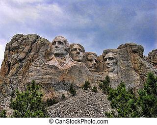 Mount Rushmore, South Dakota - Detail of Mount Rushmore, ...